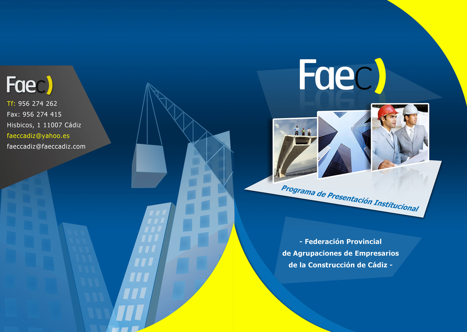 FAEC - tríptico corporativo frontal